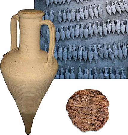 изображение старинной амфоры с пробкой из коры пробкового дуба