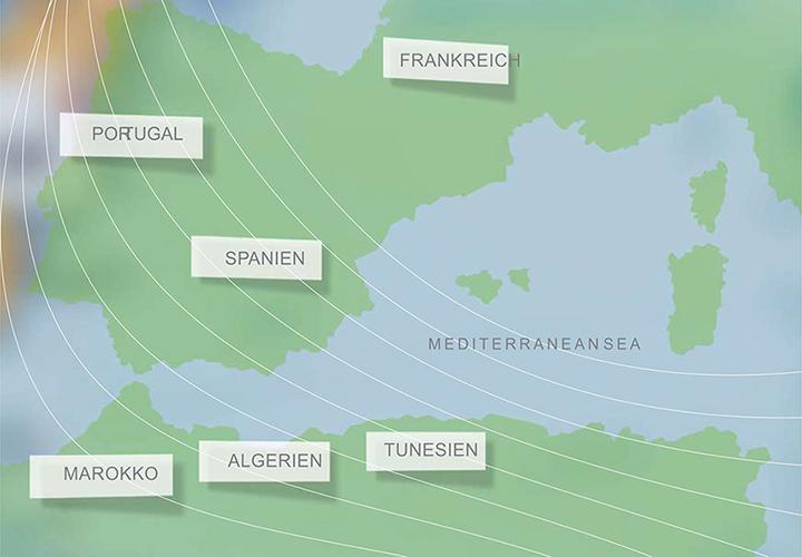 карта мест где растет пробковое дерево